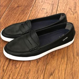 Cole Hannah black leather summer loafers 😎